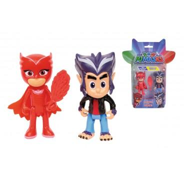 PJ Mask figurka 8 cm - Owlette a Vlčí dítě