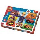 Požárník Sam puzzle: 100 dílků