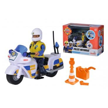 Požárník Sam policejní motorka s figurkou