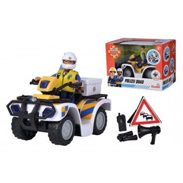Požárník Sam policejní čtyřkolka s figurkou