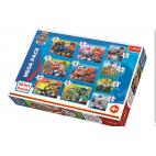 Tlapková patrola puzzle: 10v1 pack 4x20, 3x35, 3x48 dílků
