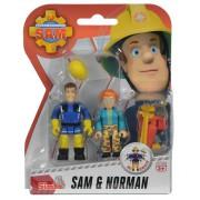 Požárník Sam - dvě figurky s příslušenstvím (Elvis a Tom)