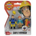 Požiarnik Sam - dve figúrky s príslušenstvom (Sam a Norman)