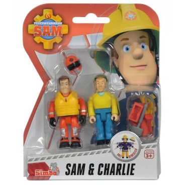 Požárník Sam - dvě figurky s příslušenstvím (Sam a Charlie)