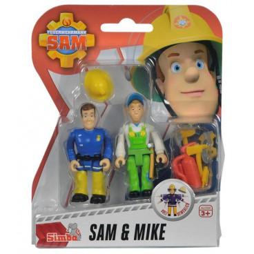 Požárník Sam - dvě figurky s příslušenstvím (Sam a Mike)