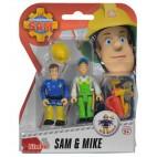 Požiarnik Sam - dve figúrky s príslušenstvom (Sam a Mike)