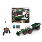 RC Traktor se lžící a vozíkem, 60 cm, 3 kan