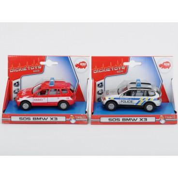 Auto Policie/Hasiči česká verze, kovové, 2 druhy