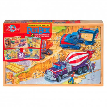 0990 Dřevěné puzzle 96 dílků Stavba