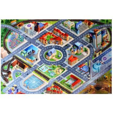 Dětský koberec Ultra Soft Letiště, 130 x 180 cm