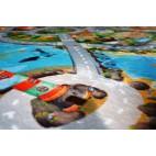 Dětský koberec Ultra Soft Město s pláží - malý