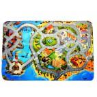 Dětský koberec Ultra Soft Město s pláží - velký