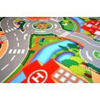 Dětský koberec Hrací koberec Město s letištěm, 100 x 150 cm