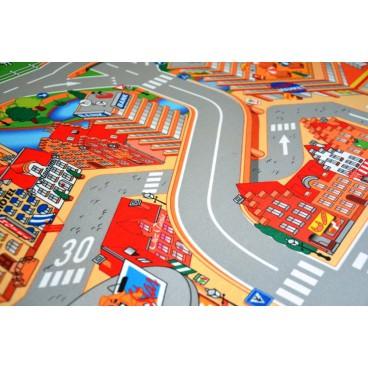 Dětský koberec Hrací koberec Město s přístavem, 100 x 150 cm