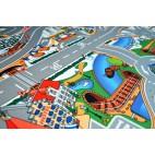 Dětský koberec Hrací koberec Zasněžené město, 80 x 120 cm