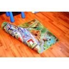 Dětský koberec oboustranný Město-farma - malý