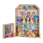 9820 Dřevěná magnetická sada - Domeček pro panenky