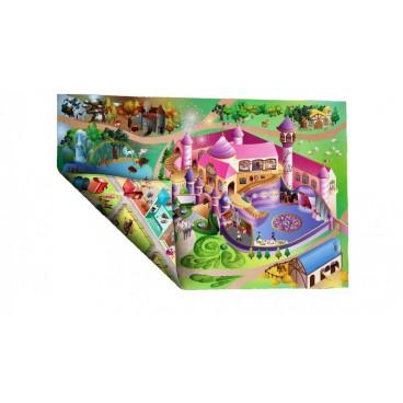 Dětský koberec oboustranný zámek-jízdárna, 100 x 150 cm