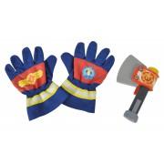Požiarnik Sam - hasičské rukavice a sekerka