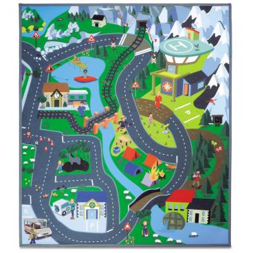 Požárník Sam hrací koberec hory 70x80 cm