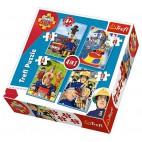 Požárník Sam Puzzle 4v1 (35 + 48 + 54 + 70 dílků)