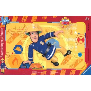Požárník Sam puzzle 15 dílků