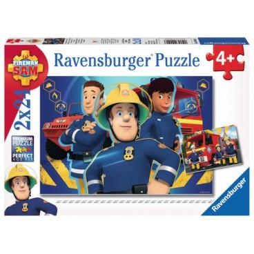 Požárník Sam puzzle 2 x 24 dílků