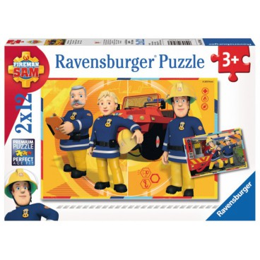 Požárník Sam puzzle: Sam v akci 2 x 12 dílků