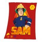 Požárník Sam fleece deka 130/160 cm