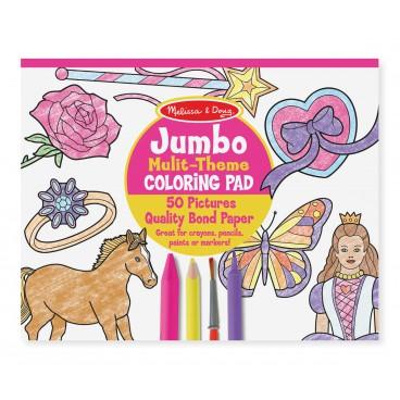 Jumbo omalovánky - Růžové