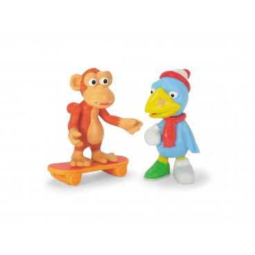 Statečná autíčka - figurky Pták Pohromák a opice
