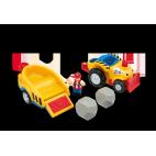 Henry nákladní auto s přívěsem