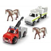Požiarnik Sam Angličáky 4v1 - Vet 4x4 + príves, Phoenix a kôň