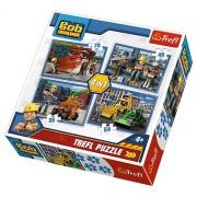 Puzzle Bořek stavitel 4v1 (35,48,54,70 dílků)