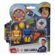 Požárník Sam - dvě figurky s příslušenstvím (Sam a Arnold)