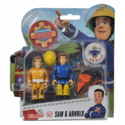Požiarnik Sam - dve figúrky s príslušenstvom (Sam a Arnold)