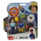 Požárník Sam - dvě figurky s příslušenstvím (Sam a Ellie)