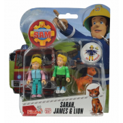 Požiarnik Sam - dve figúrky s príslušenstvom (Sara, James a kocour)