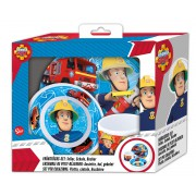 Požárník Sam snídaňový set (3 ks) v boxu