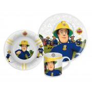 Požárník Sam snídaňový set (3 ks, porcelán) v boxu