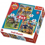 Požiarnik Sam Puzzle 3v1 (20 + 36 + 50 dielikov)