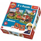 Požiarnik Sam Puzzle 2v1 + pexeso (30 + 48 dielikov)