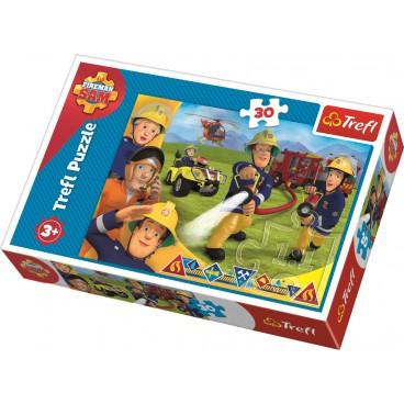 Požárník Sam puzzle: Sam zasahuje 30 dílků