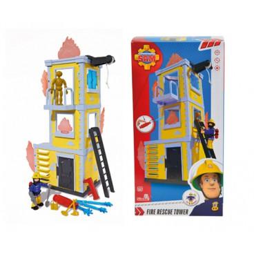 Požárník Sam Hasičská věž 42 cm s figurkou