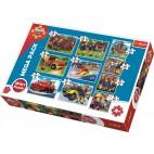 Požiarnik Sam puzzle: 10v1 pack 4x20, 3x35, 3x48 dielikov