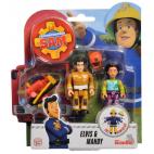 Požárník Sam - dvě figurky s příslušenstvím (Elvis a Mandy)