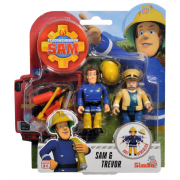 Požiarnik Sam - dve figúrky s príslušenstvom (Sam a Trevor)