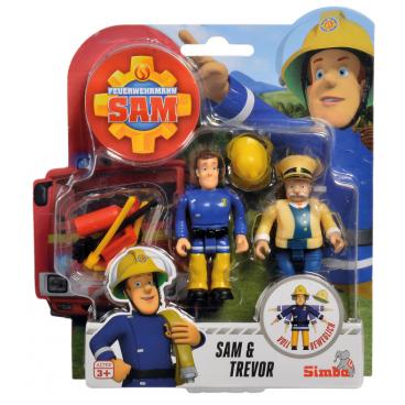 Požárník Sam - dvě figurky s příslušenstvím (Sam a Trevor)