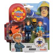 Požiarnik Sam - dve figúrky s príslušenstvom (Sam a Norman) 2019