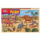 0992 Dřevěné puzzle 96 dílků Dinosauři